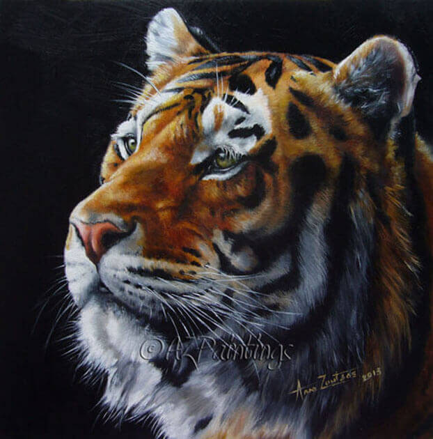 Seize The Fire - an oil painting of a tiger